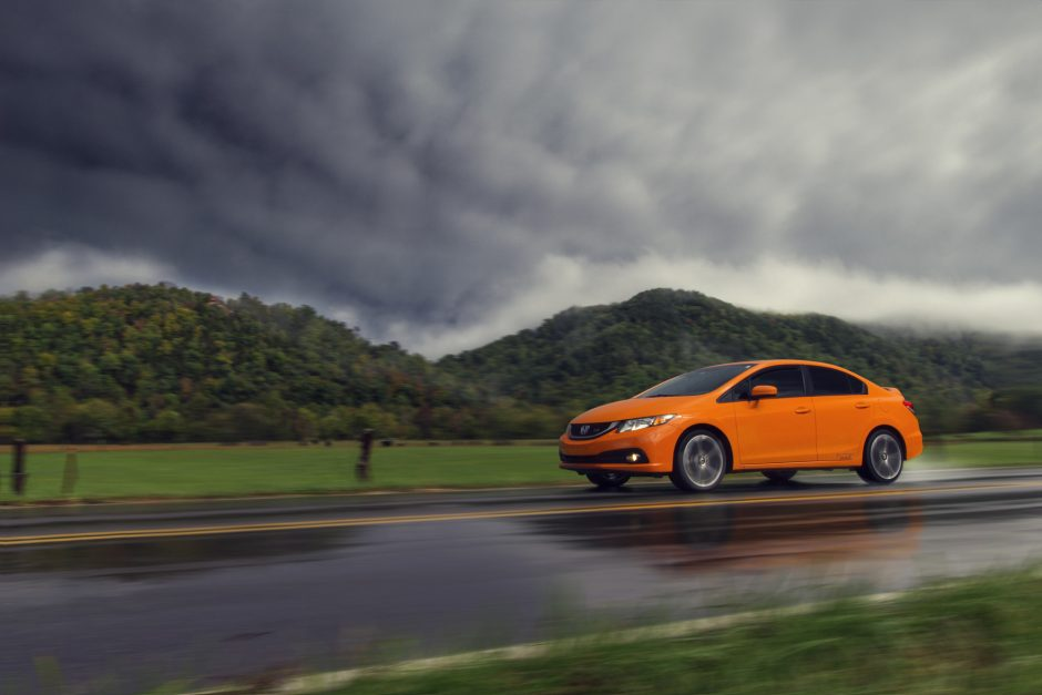 Orange Fire Pearl Civic Si